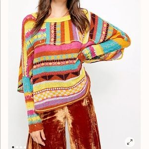 Free People December Skies poncho medium